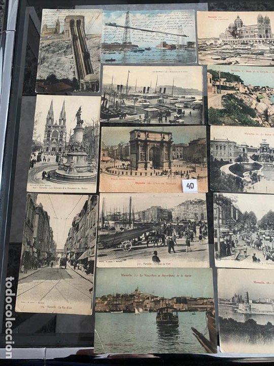 Postales: lote de 23 postales de marsella , marseille de 1906 - Foto 2 - 195144386