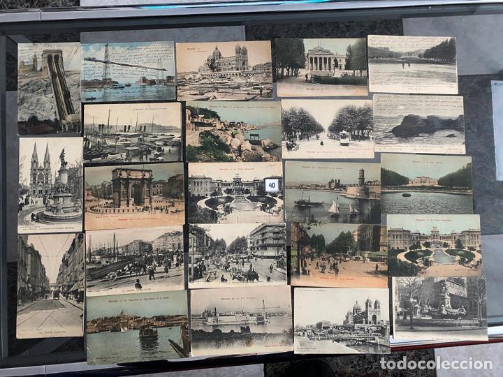 LOTE DE 23 POSTALES DE MARSELLA , MARSEILLE DE 1906 (Postales - Postales Extranjero - Europa)