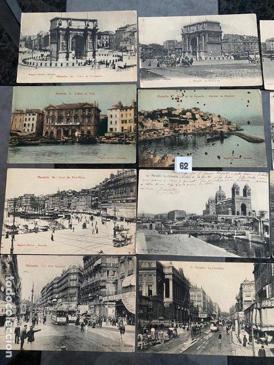 Postales: lote de 19 postales de marsella , marseille de 1906 - Foto 2 - 195144523
