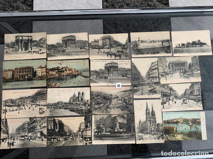 LOTE DE 19 POSTALES DE MARSELLA , MARSEILLE DE 1906 (Postales - Postales Extranjero - Europa)