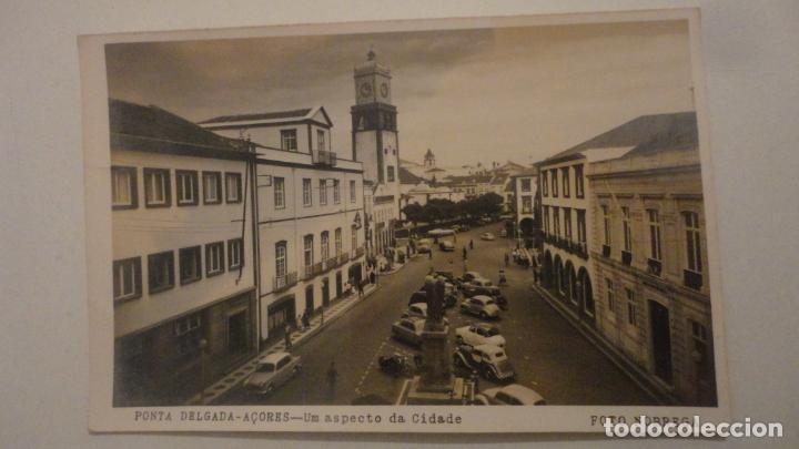 ANTIGUA POSTAL FOTOGRAFICA.PONTA DELGADA -AÇORES.ASPECTO DA CIDADE.FOTO NOBREGA PORTUGAL 1964 (Postales - Postales Extranjero - Europa)