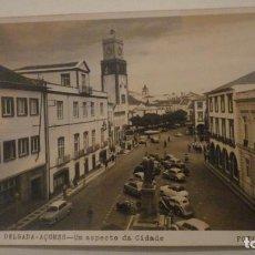 Postales: ANTIGUA POSTAL FOTOGRAFICA.PONTA DELGADA -AÇORES.ASPECTO DA CIDADE.FOTO NOBREGA PORTUGAL 1964. Lote 195149942