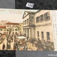 Postales: POSTAL DE GIBRALTAR DE 1906 , CIRCULADA , MANCHEN . Lote 195168806