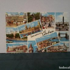 Postales: TARJETA. SOUVENIR OF LONDON. VARIAS VISTAS. Lote 195230027