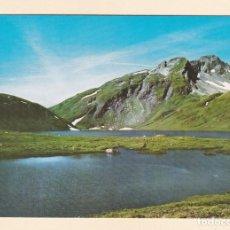 Postales: POSTAL PICO SAN BERNARDO Y LAGO VERNEY. VALLE DE AOSTA (ITALIA). Lote 195237401
