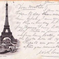 Postales: POSTAL TORRE EIFFEL DE 1892. Lote 195253761