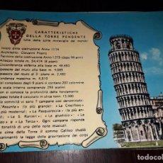 Postales: Nº 36160 POSTAL ITALIA PISA. Lote 195254153
