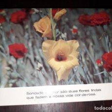 Postales: Nº 36256 POSTAL PORTUGAL FLORES MEDITACION. Lote 195281526