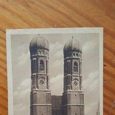 Postales: ANTIGUA TARJETA POSTAL MUNICH IGLESIA DE MUJERES ALEMANIA (MUNCHEN FRAUENKIRCHE). SIN CIRCULAR.. Lote 195300265