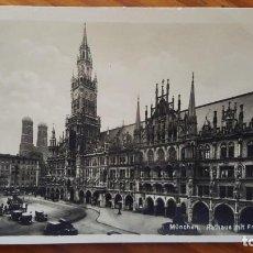 Postales: TARJETA POSTAL AYUNTAMIENTO DE MUNICH CON IGLESIA DE MUJERES (MUNCHEN RATHAUS MIT FRAUENKIRCHE).. Lote 195300572