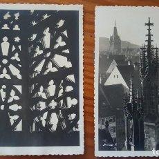 Postales: LOTE 2 POSTALES FOTOGRAFICAS MULLER. CATEDRAL DE FRIBURGO. SIN CIRCULAR. Lote 195301827