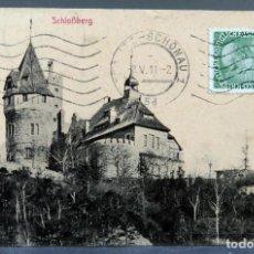 Postales: POSTAL REPÚBLICA CHECA TEPLITZ SCHLOBBERG HERMANN POY CIRCULADA SELLO 1911. Lote 195304876