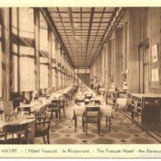 Postales: POSTAL, LE HAVRE, HOTEL FRASCATI, SIN CIRCULAR. Lote 195306368