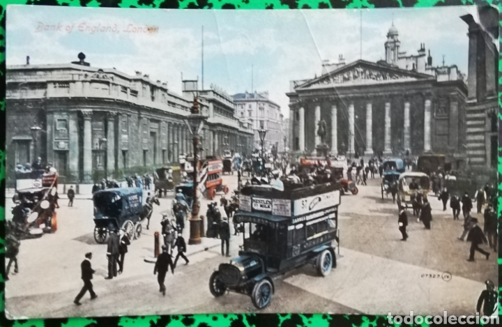 BANK OF ENGLAND, LONDON - ANTIGUA POSTAL COLOREADA - CIRCULADA - PJRB (Postales - Postales Extranjero - Europa)