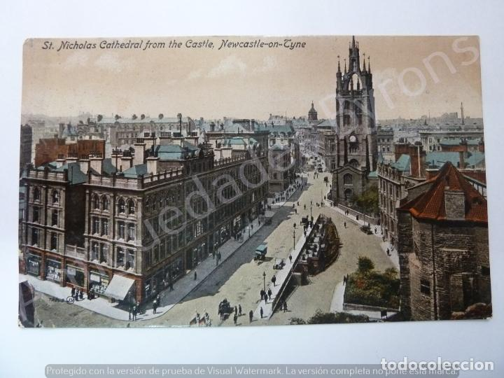 POST CARD. ST. NICHOLAS CATHEDRAL FROM THE CASTLE. NEWCASTLE ON TYNE (Postales - Postales Extranjero - Europa)