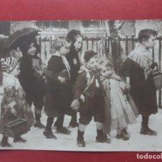 Postales: NIÑOS SALIDA ESCUELA-1921-CIRCULADA -VER FOTOS. Lote 195408673