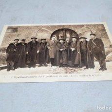 Postales: POSTAL ANTIGUA ANDORRA. ELS CONSELLERS DE LES VALLS. . Lote 195422401