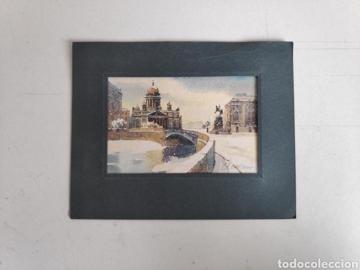 POSTAL PINTADA A MANO DE SAN PETERSBURGO, RUSIA (Postales - Postales Extranjero - Europa)