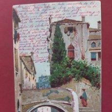 Postales: VENEZIA- ALL'INIZIO DEL SECOLO-CIRCULADA SIN SELLO. Lote 195480070