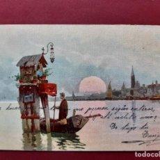 Postales: VENEZIA- ALL'INIZIO DEL SECOLO-CIRCULADA SIN SELLO. Lote 195480112