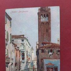 Postales: VENEZIA- ALL'INIZIO DEL SECOLO-CIRCULADA SIN SELLO. Lote 195480333