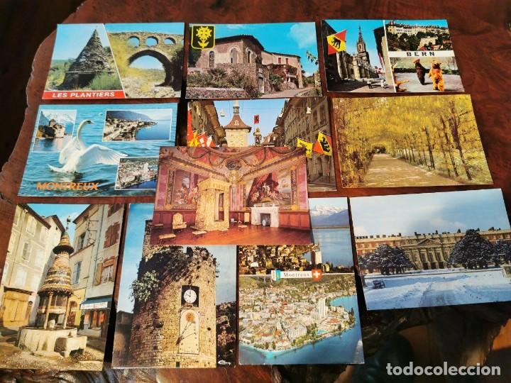 11 POSTALES PAISES DE EUROPA, FRANCIA, SUISSE, LONDRES, ALEMANIA. (Postales - Postales Extranjero - Europa)