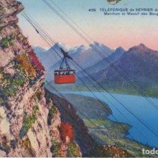 Cartes Postales: FRANCIA LAC D'ANNECY TELEFERICO DE VEYRIER 1936 POSTAL CIRCULADA. Lote 196880931
