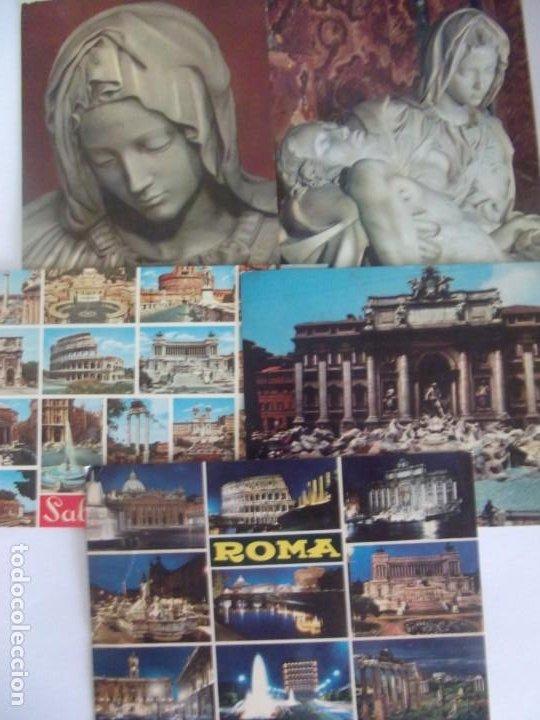 LOTE 5 POSTALES ROMA (Postales - Postales Extranjero - Europa)