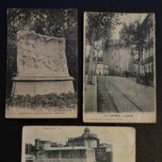 Postales: PERPIGNAN, FRANCIA , 3 ANTIGUAS POSTALES SIN CIRCULAR , PERO CON MANCHAS DEL TIEMPO, VER FOTOS. Lote 198221905