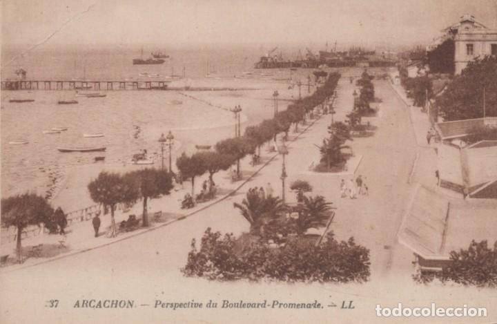POSTAL FRANCIA ARCACHON PERSPECTIVE DU BULEVARD 37 LL (Postales - Postales Extranjero - Europa)