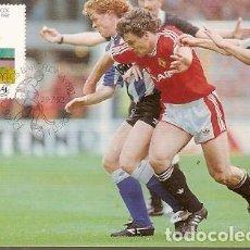 Postales: PORTUGAL & MAXI, JUEGOS OLÍMPICOS DE BARCELONA, FÚTBOL, LISBOA 1992 (126). Lote 198604142