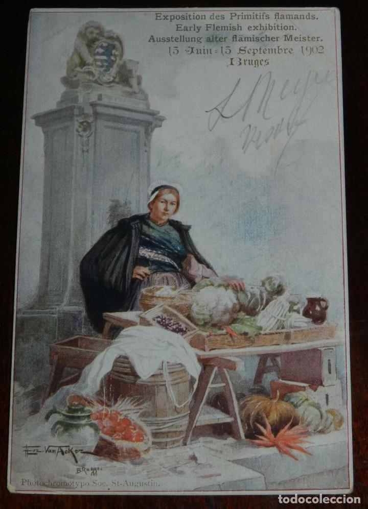 POSTAL ILUSTRADA DE EXPOSITION DES PRIMITIFS FLAMANDS, BRUGES, 1902, NO CIRCULADA. (Postales - Postales Extranjero - Europa)