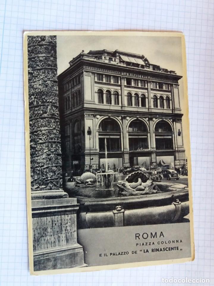 TARJETA POSTAL - ROMA - PIAZZA COLONNA - EL PALAZZO DE LA RINASCENTE (Postales - Postales Extranjero - Europa)