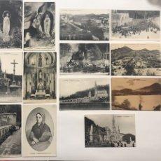 Postales: LOTE 13 POSTALES ANTIGUAS DE LOURDES. Lote 198898970