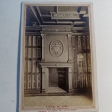 Postales: FOTOGRAFÍA EN SOPORTE CARTÓN. CHATEAU DE BLOIS. CHIMENEA DE CATALINA DE MEDICI.. Lote 198948923