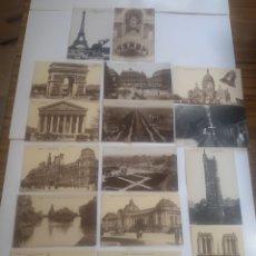 Postales: LOTE DE 16 POSTALES DE PARÍS FRANCIA. Lote 199093581