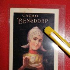 Postales: CACAO BENSDORP TARJETA PUBLICIDAD POSTAL PARÍS. Lote 199241931