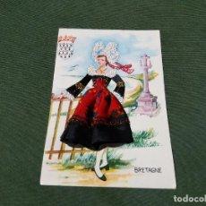 Postales: POSTAL BORDADA- TRAJE TIPICO DE BRETAÑA - PRECIOSA - LA DE LA FOTO VER TODAS MIS POSTALES. Lote 199276408