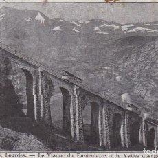 Cartes Postales: FRANCIA FUNICULAR DEL VALLE DE ARGELES POSTAL CIRCULADA. Lote 199718193
