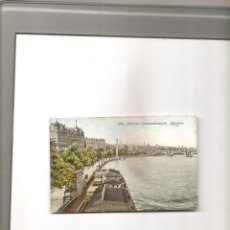 Postales: 1650. LONDRES. THE THAMES EMBANKMENT. Lote 199967855