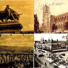 Postales: BELGICA: 2 POSTALES DE LIEJA, 1 DE 1913 DE GAND Y OTRA DE 1955 DE BRUSELAS . Lote 200792158