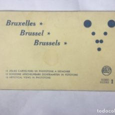 Postales: 10 JOLIES CARTES-VUES EN PHOTOTONE A DETACHER BRUXELLES BELGICA - SERIE 1 - SIN CIRCULAR -A. DOHMEN. Lote 201107507