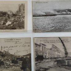 Postales: 4 TARJETAS POSTALES DEL TERREMOTO MESSINA DE 1908. Lote 202534526