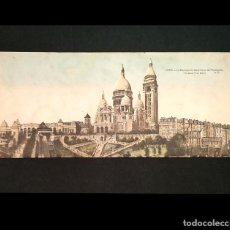 Postales: POSTAL LITOGRAFIA VISTA PANORAMICA PARIS 1934 BASILICA DEL SAGRADO CORAZON DE MONTMARTRE. Lote 202714167