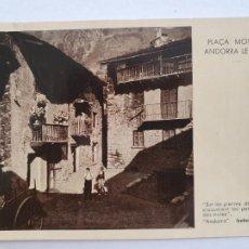 Postales: ANDORRA - ANDORRA LA VELLA - PLAÇA MONTJÒ - CIRCULADA 1958 - AND3. Lote 203185751