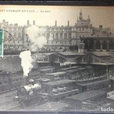Postales: FRANCIA , FRANCE , SAINT GERMAIN EN LAYE , LA GARE , ESTACIÓN DE TREN ,. Lote 203254596
