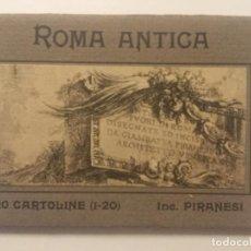 Postales: ROMA ANTICA - 20 CARTOLINE POSTALES - INC. PIRANESI - EDIZ. BRUNNER & C - SIN CIRCULAR -. Lote 203815140