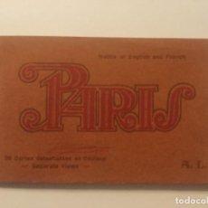 Postales: PARIS - 20 CARTES DETACHABLES EN COULEUR - A. LECONTE - SIN CIRCULAR - 20 POSTALES COLOREADAS. Lote 203819427