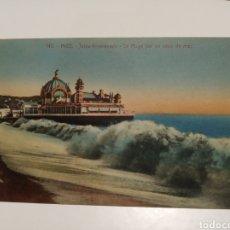 Postales: NICE GOLPE DE MAR. Lote 204359947