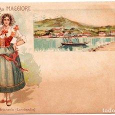 Postales: POSTAL MUY ANTIGUA, DETALLES Y COMARCAS DE ITALIA, MÁS INFORMACIÓN EN FOTOS.. Lote 205012778